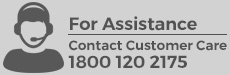 For Assistance contact customer care 1800 120 2175